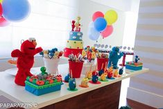Cake pops at a Sesame Street Themed 3rd Birthday Party