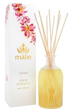 Malie Organics 'Island Ambience™ - Plumeria' Organic Reed Diffuser available at #Nordstrom
