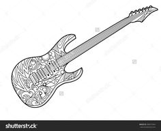 Guitar Pics Violin Musical Instruments Guitars Coloring Books Stock Photos Musicals Music Pages