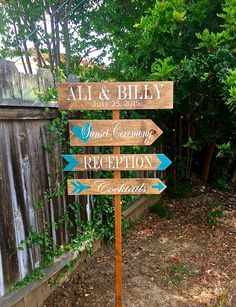 Rustic Wedding Signs, Wedding Directional Sign, Wedding Yard Sign, Wedding Decor, Wedding Signs by OneCoopedChick on Etsy