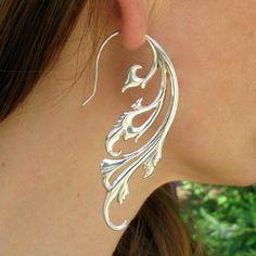 Breathless Earrings - Sterling Silver - Art Wear for Your Ears Bling Bling, Bijou Box, Wire Jewelry, Unique Jewelry, Silver Jewellery, Jewellery 2017, Dragonfly Jewelry, Silver Rings, Bullet Jewelry