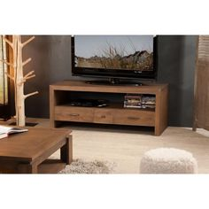 Vite ! Découvrez l'offre LOUNA Meuble TV - Etnique - Acajou - Cannelle - L120cm pas cher sur Cdiscount. Livraison rapide et Economies garanties en meuble tv !