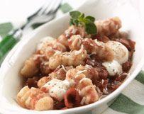 Potato Gnocchi with Tomatoes and Fresh Mozzarella