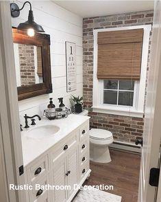 Bathroom Decor guest Bathroom Decor Rustic Bathroom Decoration Should I Buy A Cuckoo Rustic Bathroom Designs, Diy Bathroom Decor, Bathroom Renos, Bathroom Ideas, White Bathroom, Ikea Bathroom, Remodel Bathroom, Modern Bathroom, Bathroom Renovations
