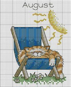 cat in the sun Cross Stitch Owl, Cat Cross Stitches, Cross Stitch Books, Cross Stitch Needles, Cross Stitch Cards, Beaded Cross Stitch, Cross Stitch Animals, Cross Stitch Kits, Cross Stitch Designs