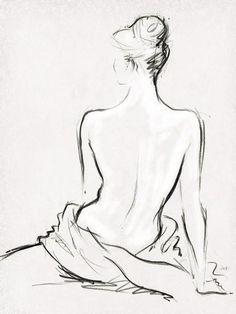 Celestiel II - Detail by Jane Hartley Figure Drawing, Line Drawing, Painting & Drawing, Figure Sketching, Back Drawing, Sketch Drawing, Figure Painting, Drawing Ideas, Art Drawings Sketches