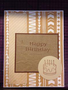 Happy birthday tribal print card #DIY