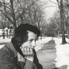 Vivian Maier - Self Portrait, 1960, (walkway/snow) / Silver Gelatin Print - 12 x 12 (on 16x20 paper)