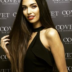 Sorcha Newby wearing Covet Hair Extensions.