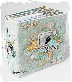 summer memories album iggydodie Plus Scrapbooking Technique, Scrapbooking Layouts, Mini Album Scrapbook, Scrapbook Cards, Mini Albums, Book Making, Card Making, Tutorial Scrapbook, Minis