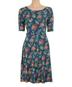 Look what I found on #zulily! Mallart Blue Skater Dress #zulilyfinds