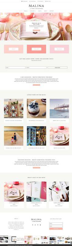 Malina - Divi Child Theme by Pretty Web Design on @creativemarket