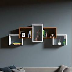 Large Wall Shelves, Wall Shelf Decor, Cube Shelves, Floating Shelves, Bookshelf Design, Wall Shelves Design, Wall Cubes, Simple Living Room Decor, Room Partition Designs