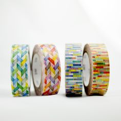 Cool little metallic color blocks washi tape.  15mmx10mMade in Japan