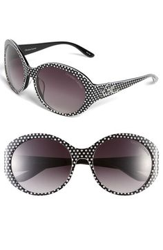 these are too cute...love the polka dots! christian lacroix large sunglasses - nordstrom