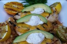 Citrus Grilled Chicken with Cheddar and Chili Cream