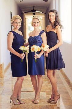 navy blue bridesmaid dresses, photo by sararichardsonphoto.com