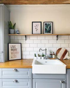 Kitchen Cabinets, Cottage, Shelves, Table, Room, Furniture, Interiors, Home Decor, Shelving