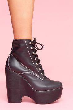Tardy Platform Boot - Black