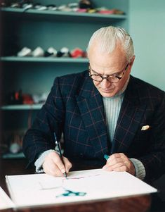 Manolo Blahnik drawing
