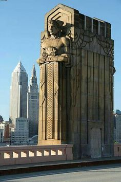 Art Deco: Architecture - bridge in Cleveland, USA -- Curated by: Ecora Engineering & Resource Group Art Et Architecture, Amazing Architecture, Architecture Details, System Architecture, Art Nouveau, Arte Art Deco, Magic Places, Deco Retro, Art Deco Stil