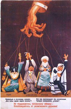 Godless Utopia: how the Soviet Union launched its war against religion — The Calvert Journal Soviet Art, Soviet Union, New York Drawing, Communist Propaganda, Gospel Of Luke, Anti Religion, Religious Education, Red Army, Vintage Ads