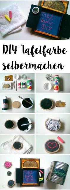 DY Tafelfarbe selbermachen // DIY Chalkpaint                                                                                                                                                                                 Mehr