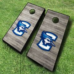 Boast your loyalty with these Creighton Bluejays cornhole boards; finished with a distressed wood design.  These officially licensed NCAA cornhole...