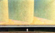 """Clouds Above the Sea I Lyonel Feininger - 1923 """