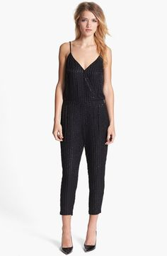 Want to wear something fabulous this Holiday Season? Sparkle wearing the Parker 'Autumn' Beaded Silk Jumpsuit available at #Nordstrom