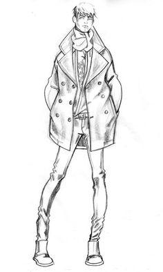 Men's Fashion Illustration by Paul Keng #MensFashionIllustration