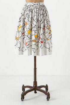 I always want to buy everything at Anthro! Shape Swirled Skirt - Anthropologie.com