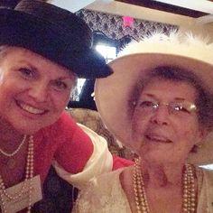 Lovely afternoon at Washington Duke Inn on Duke's Campus in Durham, NC.  Old North Tea Society Founder, Constance Lue. What a delight to meet her at the @WashingtonDuke Inn Afternoon Tea. blog post by @carolinamama  #Southern #tradition