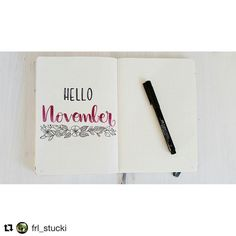 November cover page bullet journal - Instagram - hellow Novemger by @bujodeutschland •