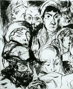The Declaration of War, 1914 by Otto Dix. Expressionism. portrait