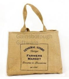 General Store Jute Shopper @ gainsboroughgiftware.com