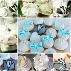 Elite Events Athens E's Wedding / Vintage Shabby Chic Romantic Elegant - Shabby Chic Wedding at Catch My Party Beautiful Cupcakes, Cute Cupcakes, Elegant Wedding, Chic Wedding, Wedding Ideas, Monster Cupcakes, Party Sweets, Cupcake Heaven, Candy Making