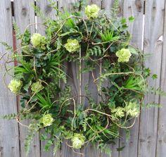 Spring Door Wreath  Wild Hops Wreath  Spring by HornsHandmade, $85.00
