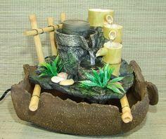 1000 images about bamboo water fountains on pinterest - Japanese indoor water fountain ...