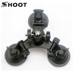SHOOT Low Angle Removable Gopro Suction Cup Mount with Tripod Ball head Sucker for GoPro Hero 5 4 3 Session SJCAM Xiaomi Yi 4K