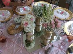 Vintage center flower arrangements