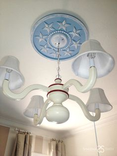 Light up your nursery. #lighting #nursery