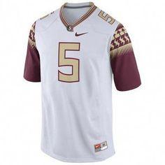 e9b0451a96c6cb Florida State Seminoles Nike 2014  5 Replica Football Jersey – White   fsubasketball
