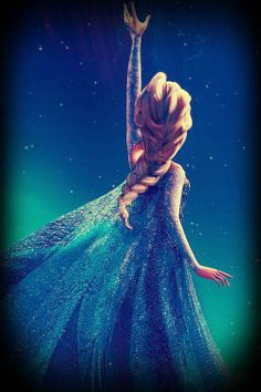 I learned how to do Elsa's braid and it's really cool looking in your hair.