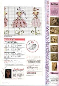 0 point de croix collection de robes roses sur mannequin de couture - cross stitch collection of pink dresses on dress forms part 2