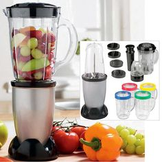[61% OFF] 17PC MULTI BLENDER FOOD PROCESSOR JUICER SMOOTHIE MAKER MIXER CHOPPER With Free  UK Delivery