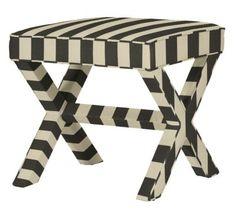 striped x bench