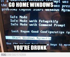 Windows has always been screwy.