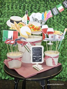 Italian Printable Photo Booth Props - Paper and Cake Paper and Cake