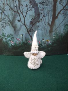Winter Snow Fairy  Waldorf Inspired Wooden Peg by TrissysTreasures